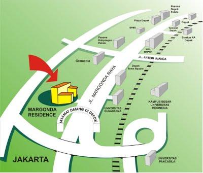 Site Map Apartemen Margonda Residence