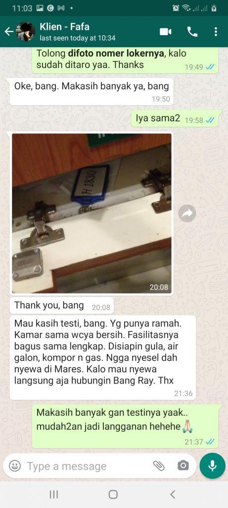 Testimoni Apartemen Harian Murah Di Depok Kota Depok Jawa Barat